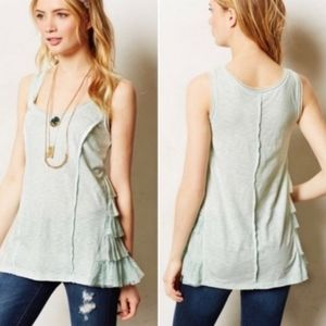 Lilka ANTHROPOLOGIE Ruffled Margins Top Sz S
